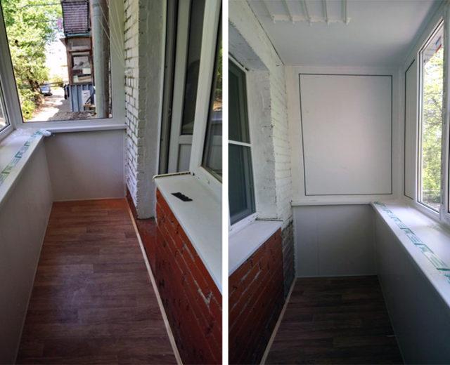 Окончание ремонта. Балкон под ключ, Аксай. Подрядчик ООО Алмаз