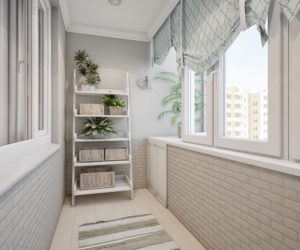 Внутренняя отделка балкона. ООО Алмаз, Ростов