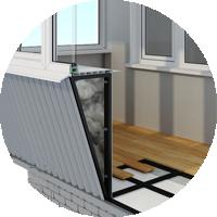 Перед отделкой балкона под ключ нужно проверить состояние плиты