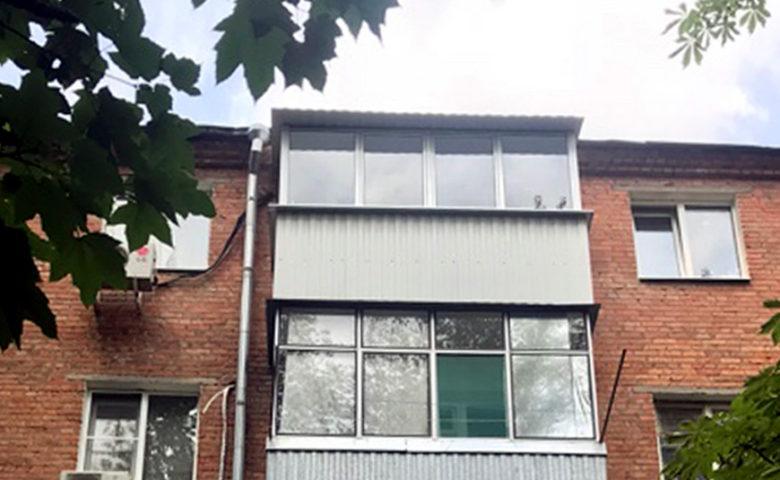 Ремонт и утепление балкона в хрущёвке. Подрядчик – ООО Алмаз