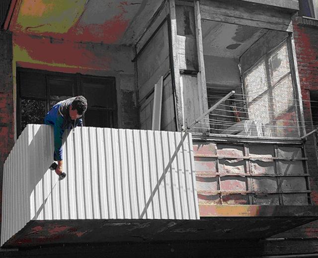 Внутренняя и наружная отделка балкона. Ростов-на-Дону, ул Клубная 3