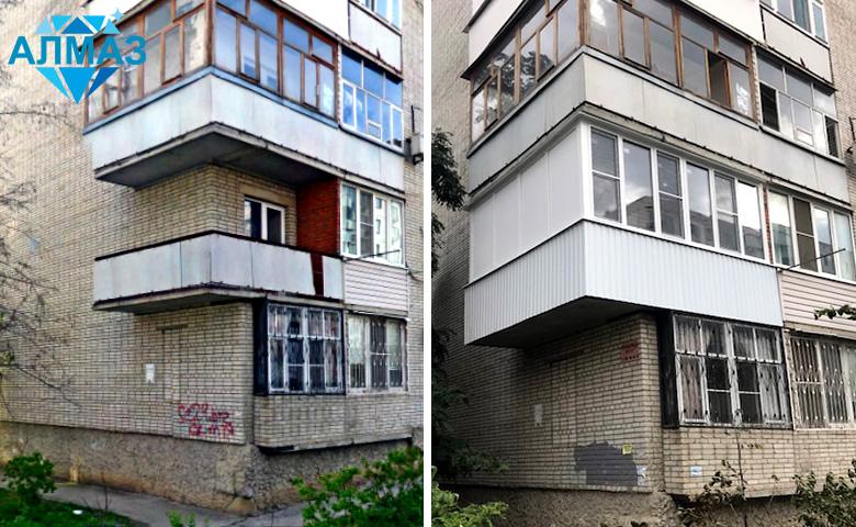 Остекление углового балкона. Батайск, сентябрь 2018