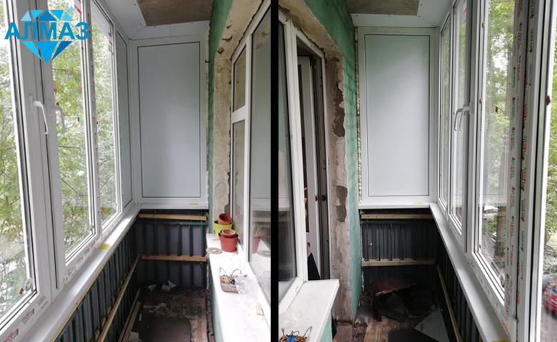 Остекление и отделка балкона пластиковыми панелями