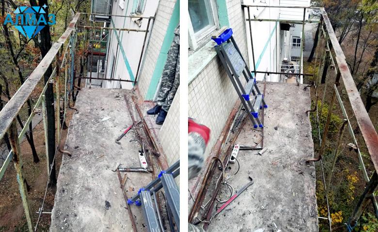 Крыша на балкон последнего этажа, остекление, вынос, без отделки
